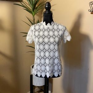 - Who What Wear  Lace Blouse